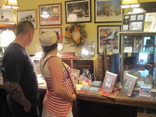 People browse Sunday at the St. James General