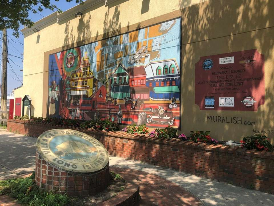 Near Patchogue's Roe Alley Murals lies this mural