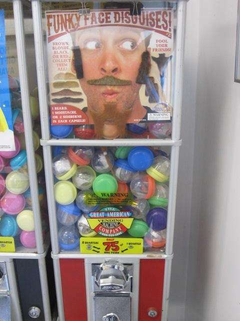 The mustache machine beckons at Karts in Ronkonkoma.