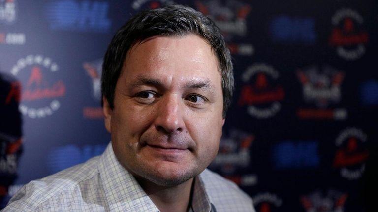 Then-Flint Firebirds head coach John Gruden addresses the