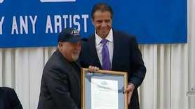 Gov. Andrew M. Cuomo honored Billy Joel for