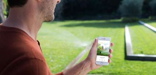 Rachio 3 smart sprinkler system can be controlled