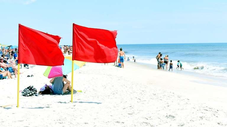 Red flags at Robert Moses State Park at