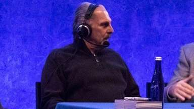WFAN radio host Joe Benigno, center, on Dec.