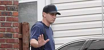NYPD Officer Daniel Pantaleo at his Staten Island