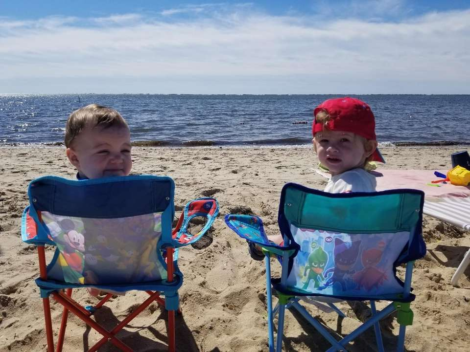 Cousins enjoying Corey Beach