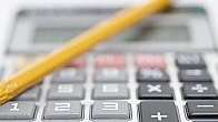 Pencil and calculator