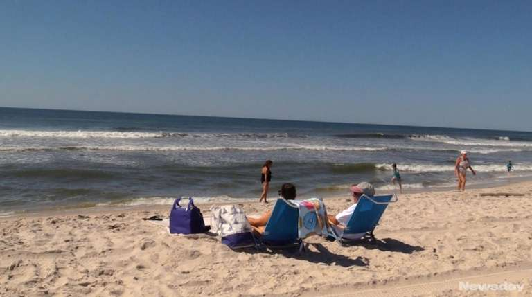 On Thursday, Long Islanders headed to the beaches