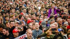 A campaign rally of Donald Trump at Grumman