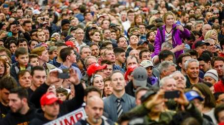 A campaign rally of Donald Trump at Grumman