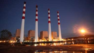 A view of the National Grid power plant