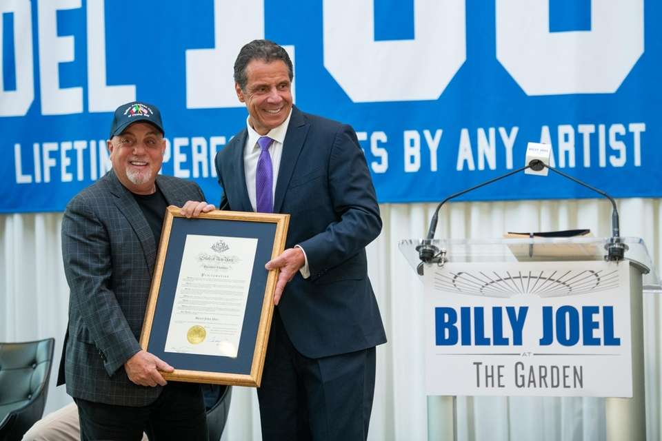 Gov. Andrew M. Cuomo hands proclamation to Billy