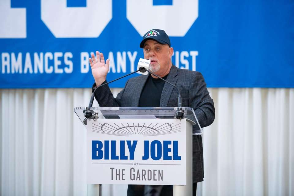 Billy Joel is honored before his 100th show