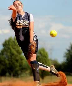 Eastport-South Manor High School pitcher #5 Catherine Havens
