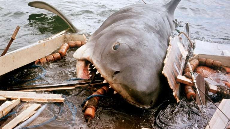 "A scene from Steven Spielberg's 1975 movie ""Jaws."""