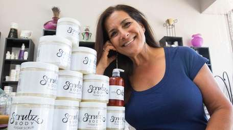 Roberta Perry, owner of ScrubzBody Skin Care Products,