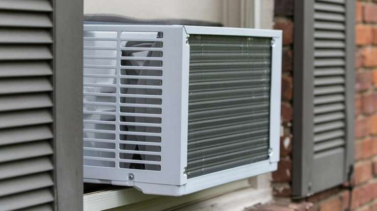 An air conditioner on the side of a