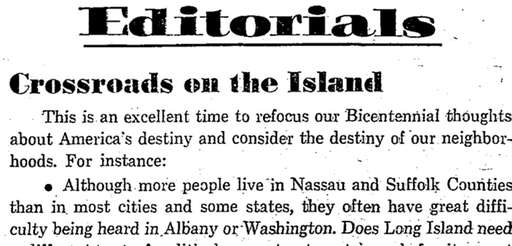 An editorial that ran on July 5, 1976.