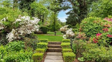 The home's English gardens