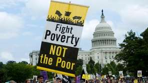 Demonstrators march against poverty in Washington in June.