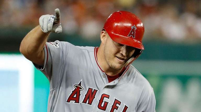 American League Center Fielder Mike Trout Of The