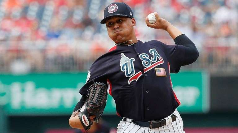 Pitcher Justus Sheffield of the Yankees and the