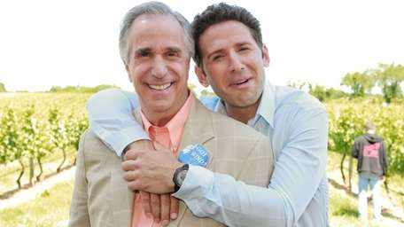 Henry Winkler and Mark Feuerstein were at Pellegrini