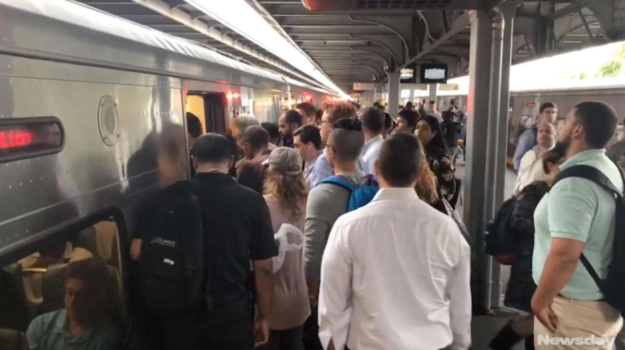 On Monday, Long Island Rail Road commuters faced