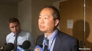 LIRR president Phillip Eng and MTA spokesman Jon