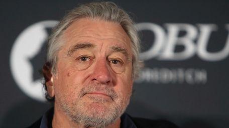 Robert De Niro attends a news conference at