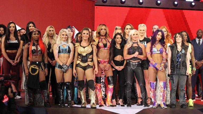 The WWE's women wrestlers.
