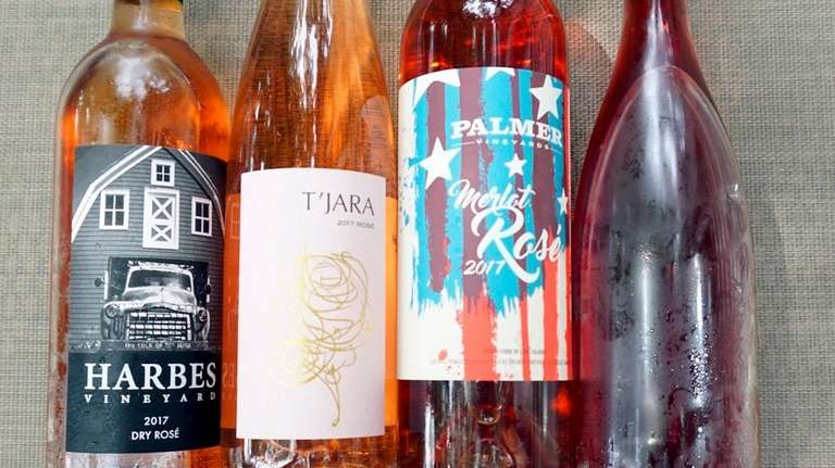 A cross section of this season's rosés from