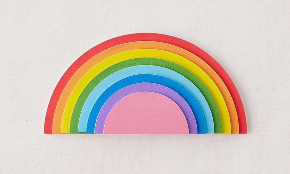 Spread the rainbow with this multi-colored, multi-sized notepad