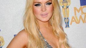 Lindsay Lohan arrives at the 2010 MTV Movie