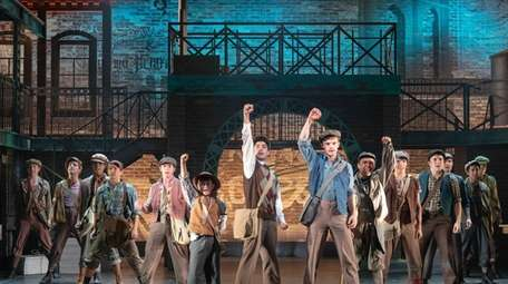 "The cast of ""Newsies"" re-creates a newsboys strike"