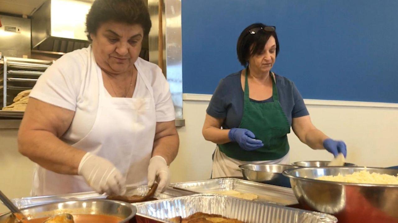An army of grandmas, or nonnas, prepares food