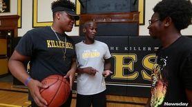 Members of the 2015 Bridgehampton high school basketball