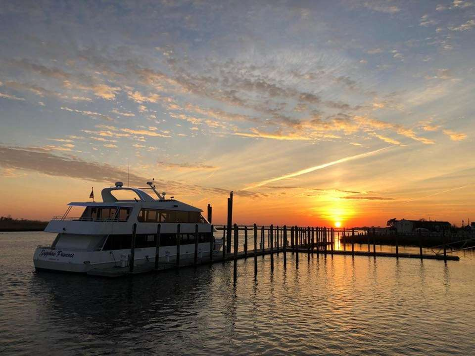 Sunset dinner cruises are available from Captain Lou's