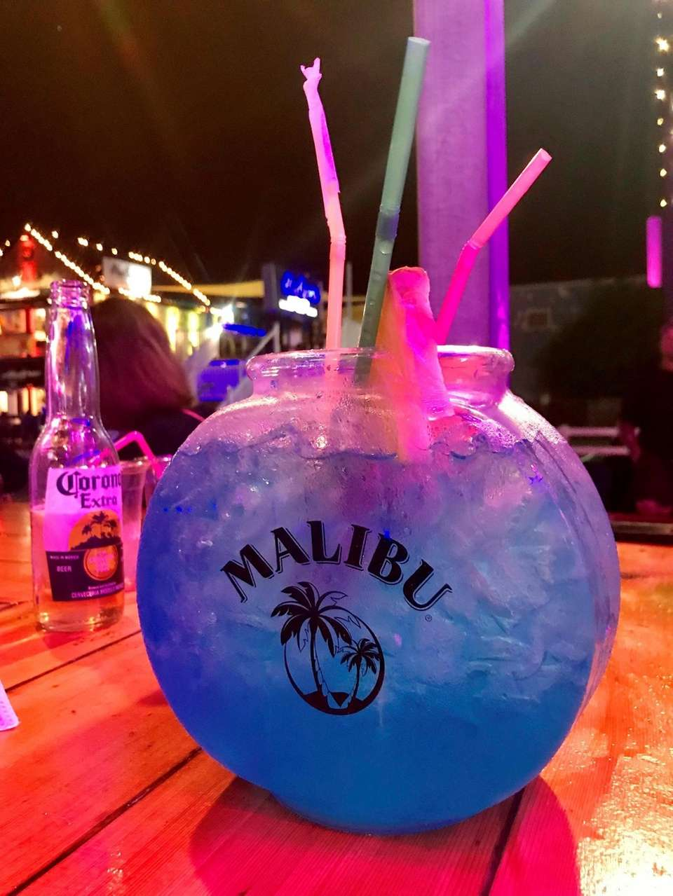 The Ultimate Fish Bowl is the signature cocktail
