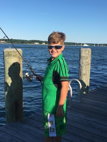 Christian Creaven-Tinp, 9, Hoping to catch a fish