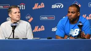 Mets assistant general manager John Ricco announces on