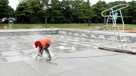 Work being done at Roberto Clemente Park in