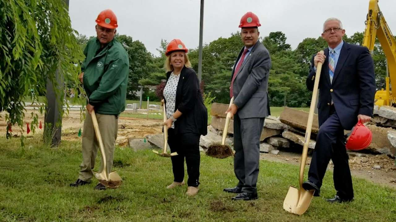 State and local officials on Wednesday broke ground