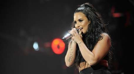 Demi Lovato performs onstage during KISS/103.5 FM's Jingle