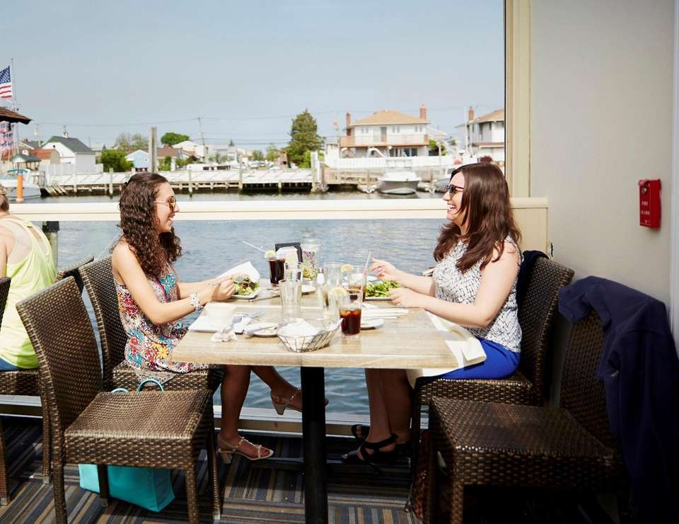 Situated along Freeport's Nautical Mile, Rachel's features a
