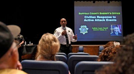 Suffolk County Sheriff Errol D. Toulon Jr., speaks