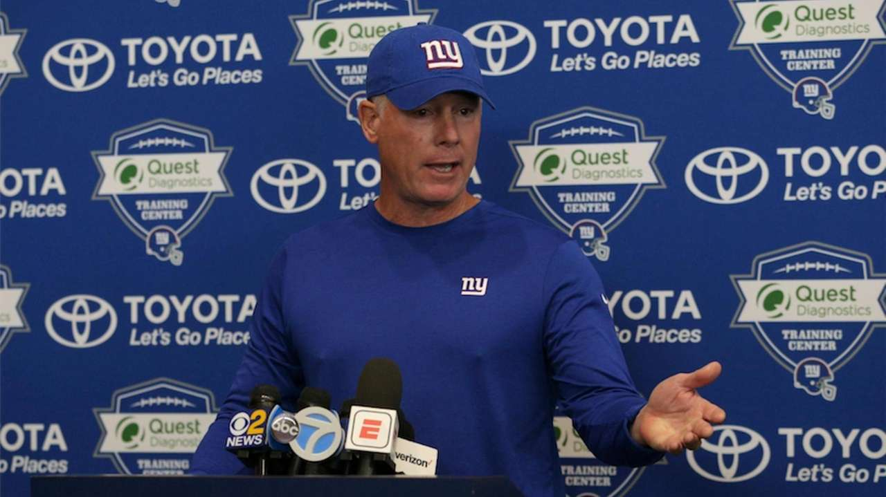New Giants head coach Pat Shurmur addressed the media
