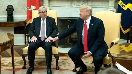 European Commission President Jean-Claude Juncker meets with President