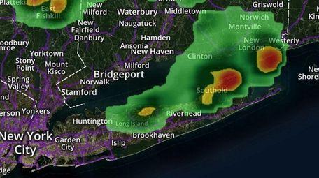 Rain may appear Friday evening and Saturday morning,