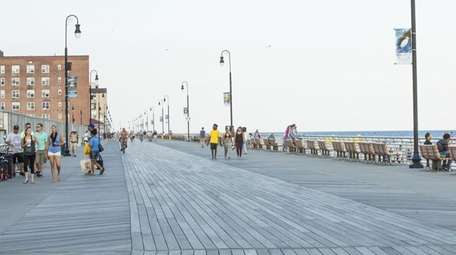 The rebuilt Long Beach boardwalk in Long Beach